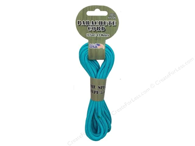 Pepperell 550 Parachute Cord 16 ft. Turquoise