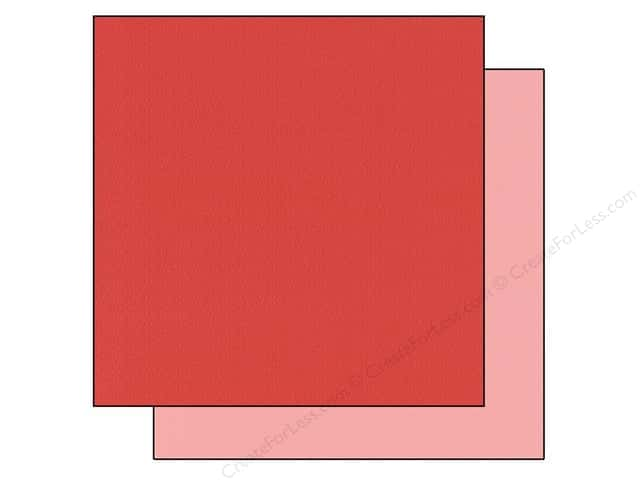 Bazzill 12 x 12 in. Cardstock Two Scoops #304811 Cherries Jubilee 25 pc.