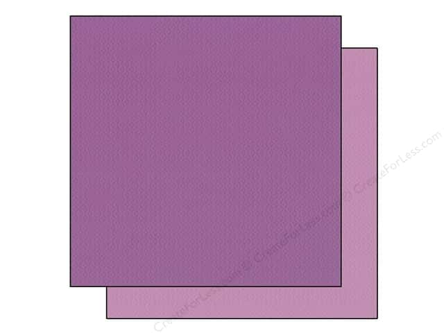 "Bazzill Cardstock 12""x 12"" 25pc TwoScoops Black Raspberry"