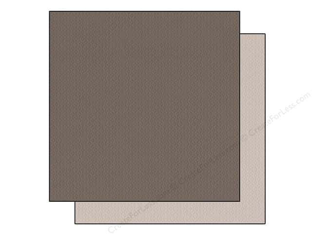 "Bazzill Cardstock 12""x 12"" 25pc TwoScoops Black Walnut"