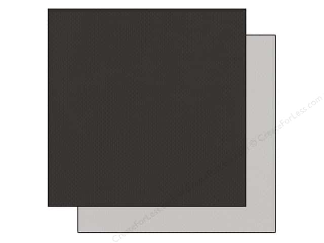 "Bazzill Cardstock 12""x 12"" 25pc TwoScoops Black Cow"