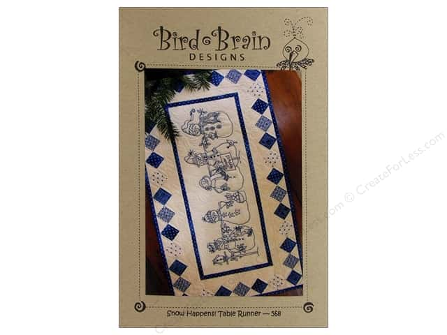 Bird Brain Designs Snow Happens Table Runner Pattern