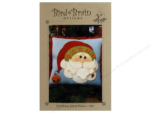 Bird Brain Designs Christmas Santa Pillow Pattern