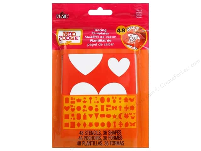 Plaid Mod Podge Tools Tracing Template Shapes