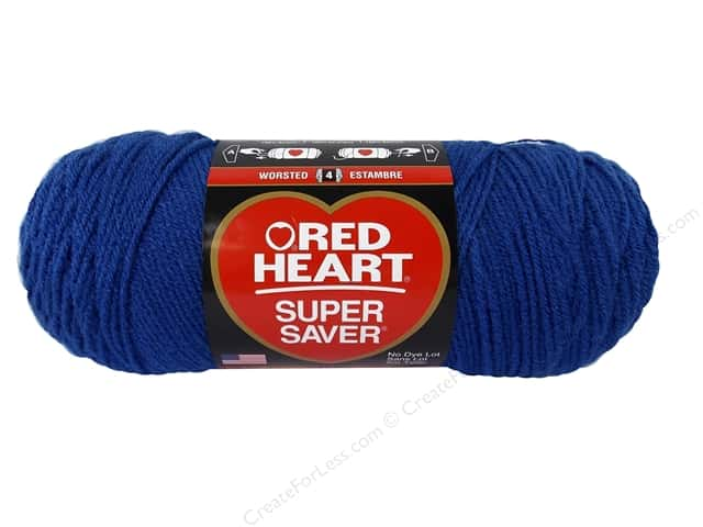 Red Heart Super Saver Yarn #3945 Blue Suede 364 yd.