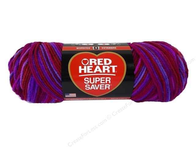 Red Heart Super Saver Yarn #3946 Razzle 5 oz.