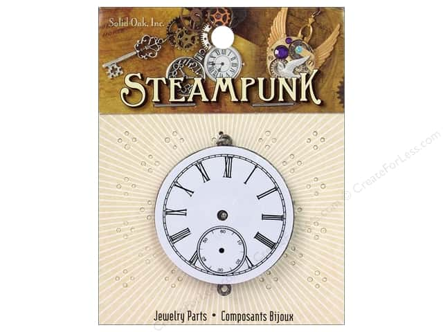 Solid Oak Pendant Steampunk Watch Movement 40mm (2 pieces)