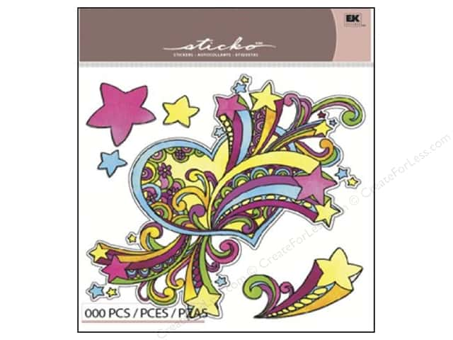 EK Sticko Stickers Big Hearts & Stars