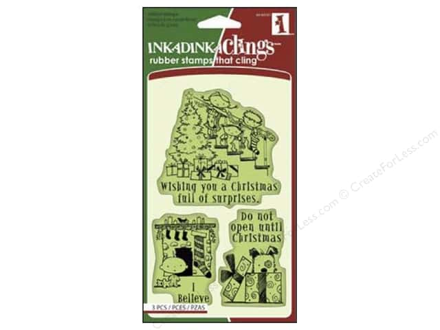 Inkadinkado InkadinkaClings Rubber Stamp Christmas Surprise