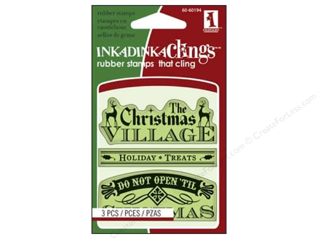 Inkadinkado Stamp Inkadinkaclings Mini Village Signs And Tags