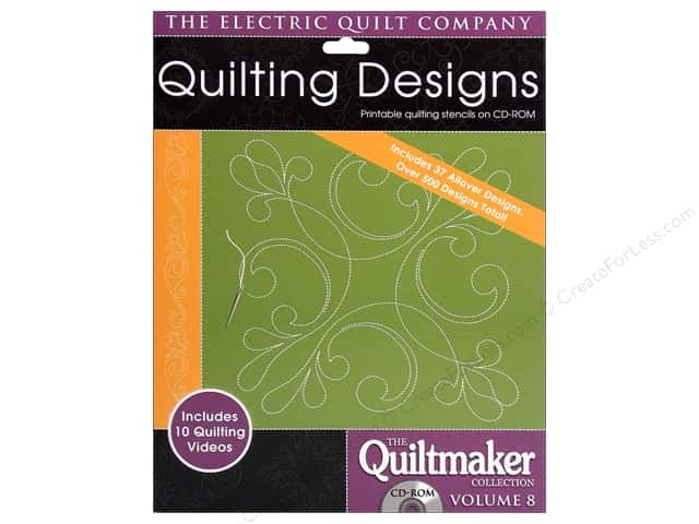 Electric Quilt Company Quiltmaker Collection Volumn 8 CD