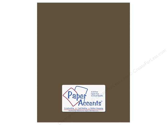 Cardstock 8 1/2 x 11 in. #10143 Stash Builder Textured Molasses by Paper Accents (25 sheets)