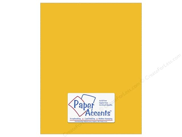 Cardstock 8 1/2 x 11 in. #10146 Stash Builder Textured Sun Glow by Paper Accents (25 sheets)