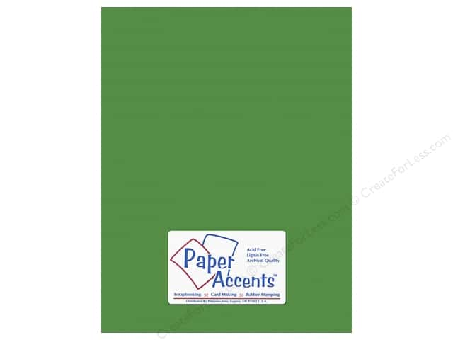 Cardstock 8 1/2 x 11 in. #10149 Stash Builder Textured Irish Green by Paper Accents (25 sheets)
