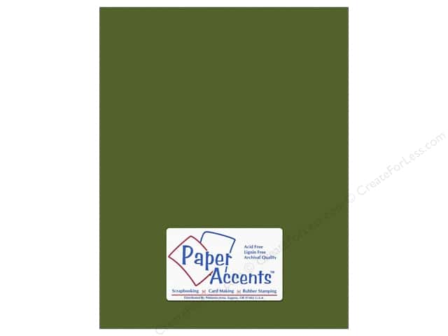 Cardstock 8 1/2 x 11 in. #10150 Stash Builder Textured Pesto by Paper Accents (25 sheets)
