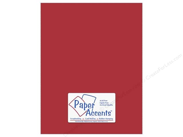 Cardstock 8 1/2 x 11 in. #10152 Stash Builder Textured Tomato by Paper Accents (25 sheets)