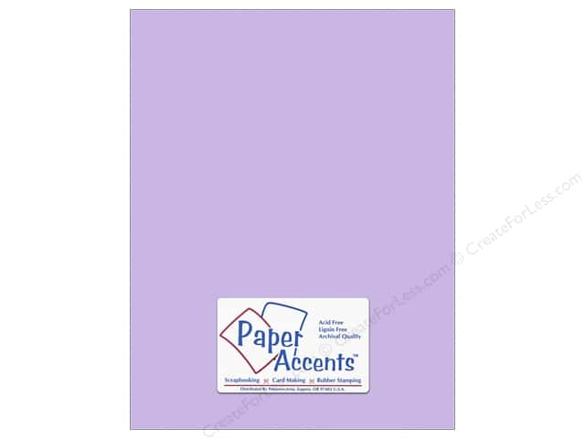 Cardstock 8 1/2 x 11 in. #10153 Stash Builder Textured Viola by Paper Accents (25 sheets)