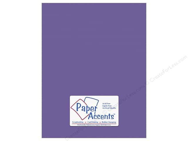 Cardstock 8 1/2 x 11 in. #10154 Stash Builder Textured Royal Purple by Paper Accents (25 sheets)