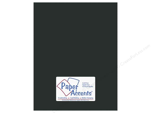 Cardstock 8 1/2 x 11 in. #10160 Stash Builder Textured Obsidian by Paper Accents (25 sheets)