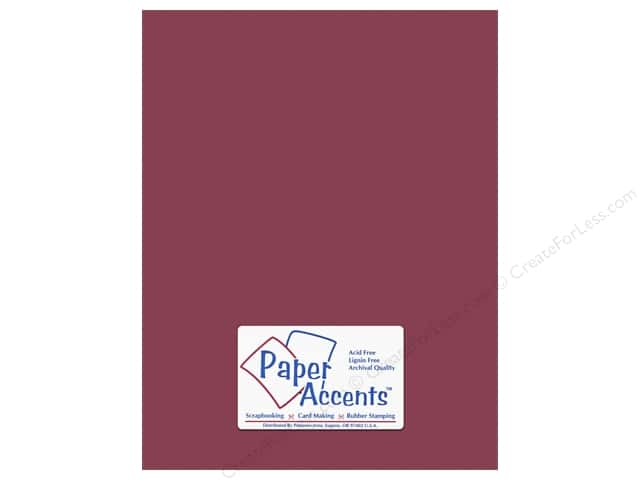 Cardstock 8 1/2 x 11 in. #10162 Stash Builder Textured Berry by Paper Accents (25 sheets)