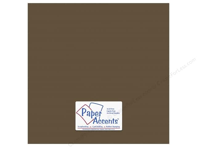 Cardstock 12 x 12 in. #10143 Stash Builder Textured Molasses by Paper Accents (25 sheets)