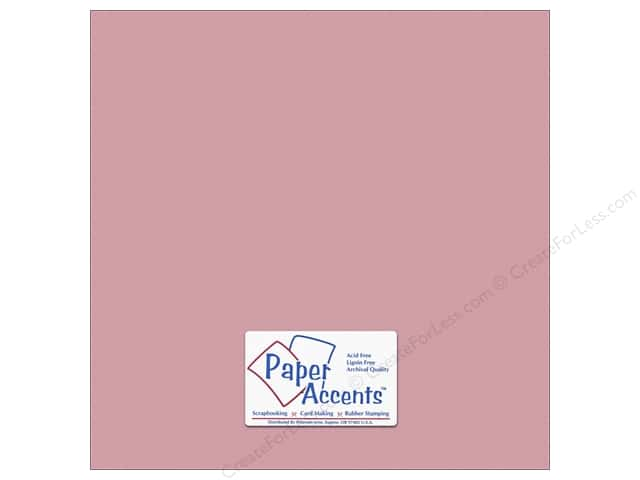 Cardstock 12 x 12 in. #10144 Stash Builder Textured Vintage Rose by Paper Accents (25 sheets)
