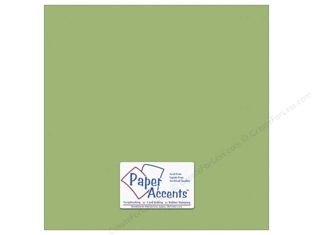 Cardstock 12 x 12 in. #10148 Stash Builder Textured Green Tea by Paper Accents (25 sheets)