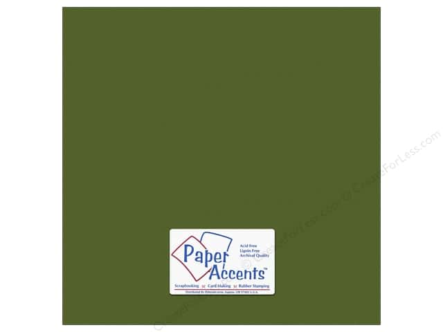 Cardstock 12 x 12 in. #10150 Stash Builder Textured Pesto by Paper Accents (25 sheets)