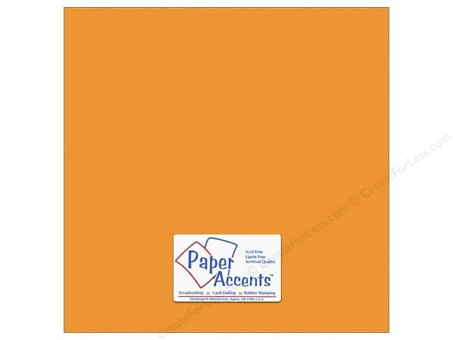 Cardstock 12 x 12 in. #10151 Stash Builder Textured Butternut by Paper Accents (25 sheets)