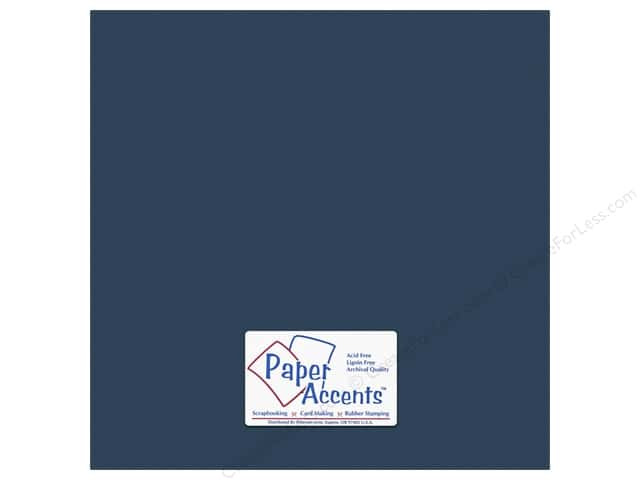 Cardstock 12 x 12 in. #10156 Stash Builder Textured Midnight Blue by Paper Accents (25 sheets)