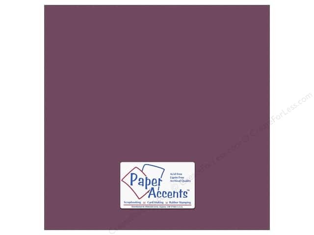 Cardstock 12 x 12 in. #10159 Stash Builder Textured Plum by Paper Accents (25 sheets)