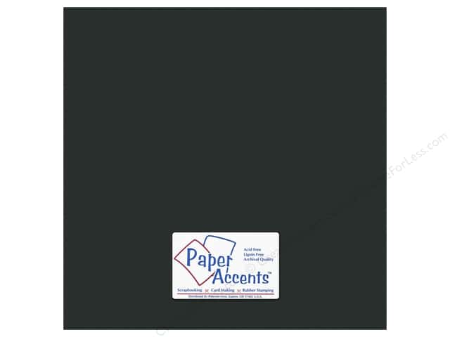 Cardstock 12 x 12 in. #10160 Stash Builder Textured Obsidian by Paper Accents (25 sheets)