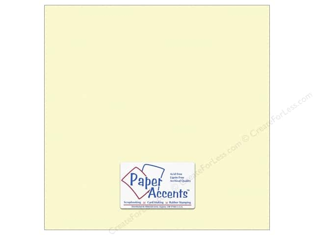 Cardstock 12 x 12 in. #10161 Stash Builder Textured Citronella by Paper Accents (25 sheets)