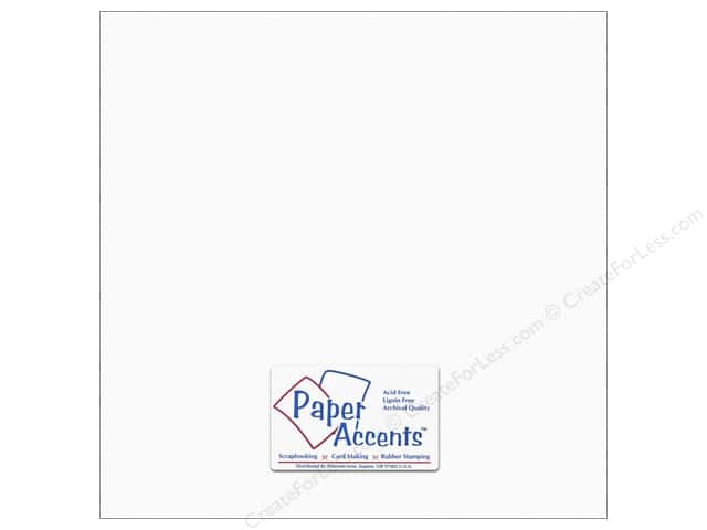 Cardstock 12 x 12 in. #10165 Stash Builder Textured Snow White by Paper Accents (25 sheets)