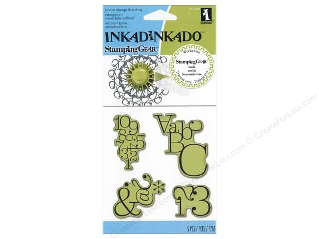 Inkadinkado InkadinkaClings Stamping Gear Rubber Stamp Typographic