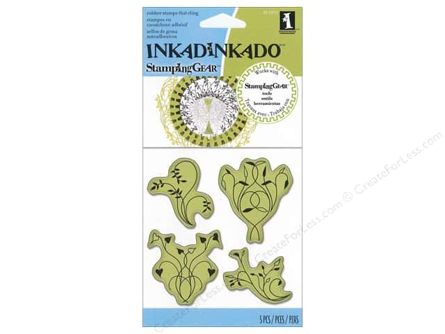 Inkadinkado Stamping Gear Cling Stamps Twisted Vines