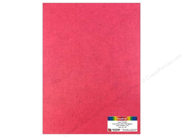 "National Nonwovens WoolFelt 12""x 18"" 35% Ruby Red Slippers (12 pieces)"