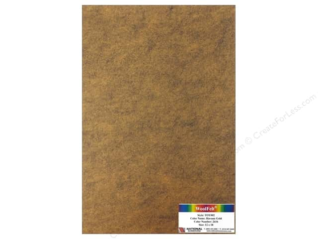 National Nonwovens WoolFelt 12 x 18 in. 35% Havana Gold (12 pieces)