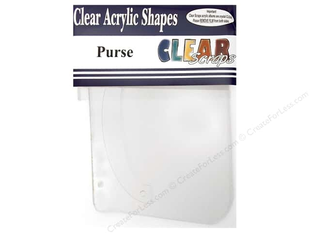 Clear Scraps Clear Album 8 1/2 x 5 1/2 in. Purse