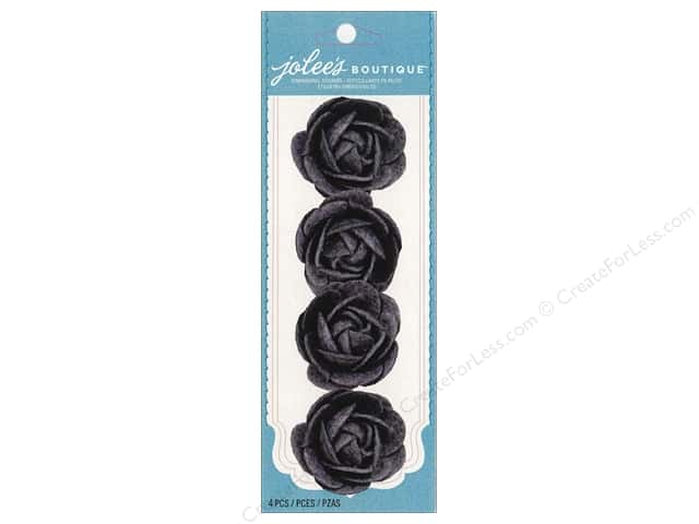 Jolee's Boutique Embellishments Le Fleur Rose Felt Grey