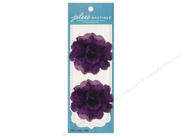 Jolee's Boutique Embellishments Le Fleur Flower Polka Dot Purple