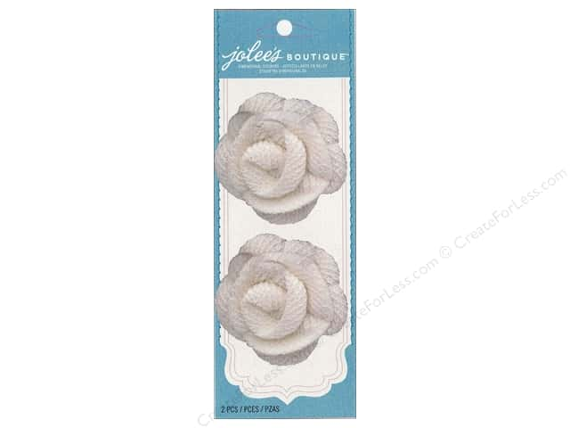 Jolee's Boutique Embellishments Antique Spiral Flower White
