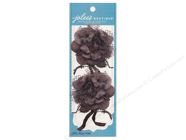 Jolee's Boutique Embellishments Le Fleur Brown Ribbon Lace Flower