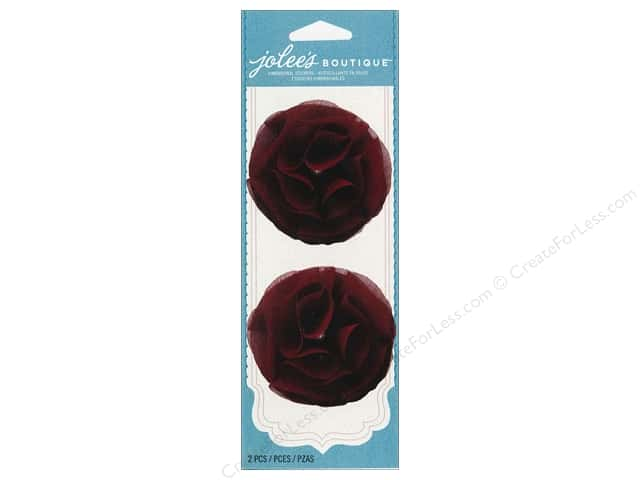 Jolee's Boutique Embellishments Pearl Gem Flower Burgundy
