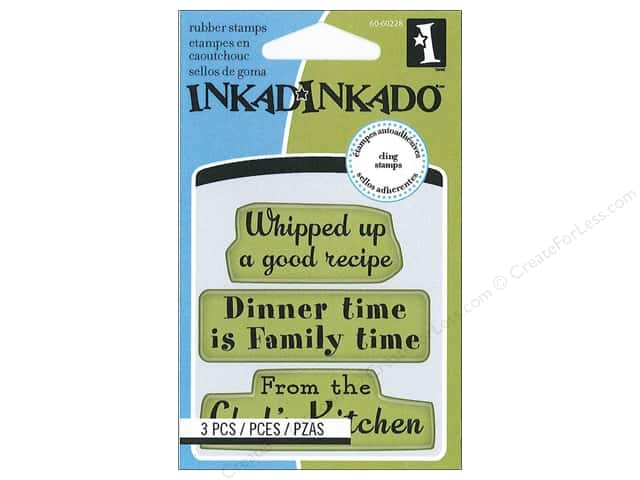 Inkadinkado InkadinkaClings Rubber Stamp Kitchen Expressions