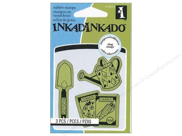 Inkadinkado InkadinkaClings Rubber Stamp Mini Garden Veggie Icon
