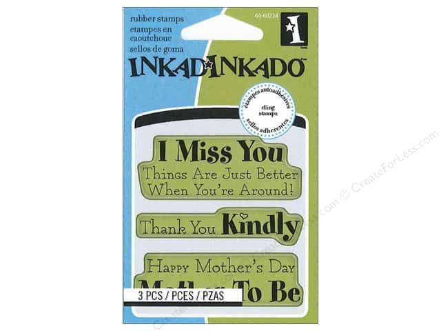 Inkadinkado InkadinkaClings Rubber Stamp Mini Mother Thanks Expressions