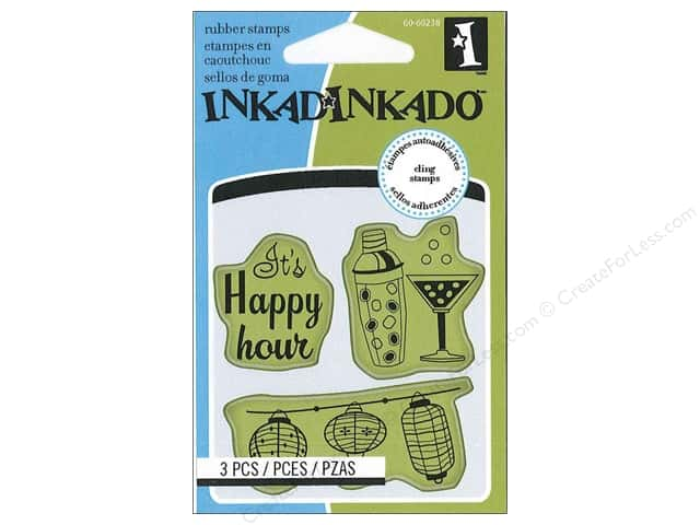 Inkadinkado InkadinkaClings Rubber Stamp Mini Cocktail Party Icons