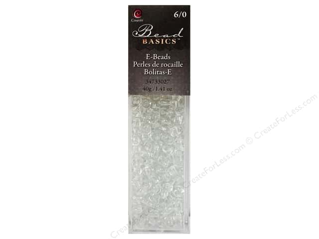 Cousin Bead Glass E 6/0 40g Clear