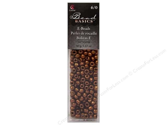 Cousin Basics Glass E Beads 6/0 40g 1.41 oz. Brown
